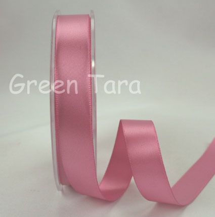 15mm Double Sided Satin Ribbon 25m Rose