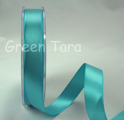 15mm Double Sided Satin Ribbon 25m Sky Blue