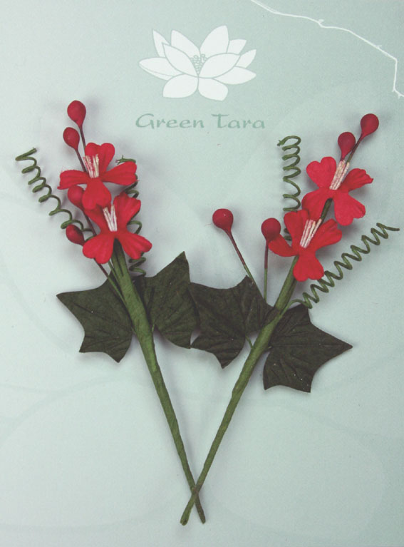 Xmas Bouquet Red/Green 10cm. Retail pack of 2.