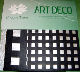 20 A5 Sheets Art Deco Papers Silver & Black