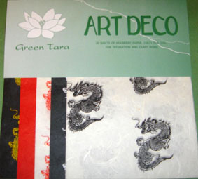 20 A5 Sheets Art Deco Papers Dragons