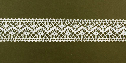 10m Lace Ribbon, 22mm Cream