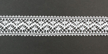 10m Lace Ribbon, 22mm White