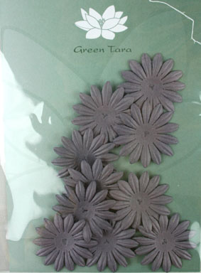 4cm Petals. Aubergine Pack of 10