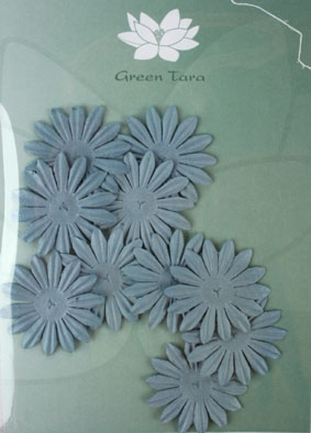 4cm Petals. Grey Blue. Pack of 10