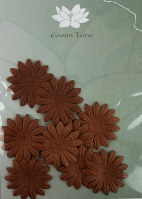 4cm Petals. Dark Brown. Pack of 10