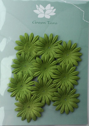4cm Petals, Green. Pack of 10