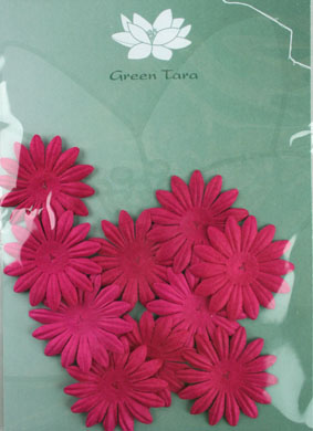 4cm Petals, Hot Pink. Pack of 10