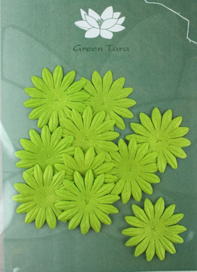 4cm Petals, Lime Green. Pack of 10