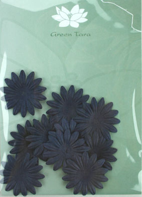 4cm Petals, Midnight Blue. Pack of 10