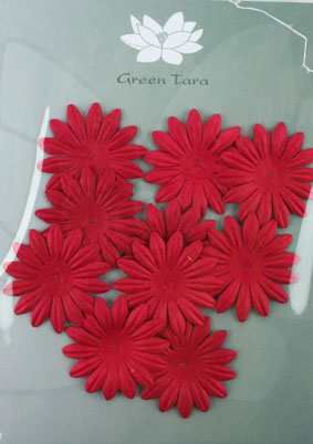 4cm Petals, Red. Pack of 10