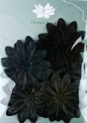 7cm Petals, Black Pack of 10