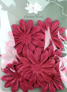 7cm Petals, Burgundy. Pack of 10