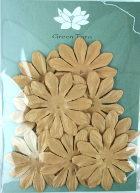 7cm Petals, Light Brown Pack of 10