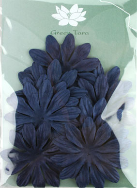 7cm petals, Midnight Blue  Pack 10