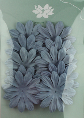 6cm Petals, Grey/Blue Pack of 10