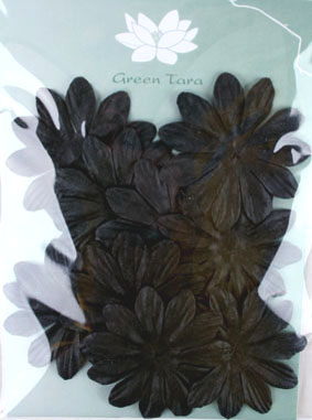 6cm Petals, Black Pack of 10
