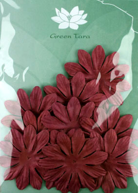 6cm Petals, Burgundy. Pack of 10