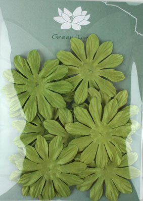 6cm Petals, Green. Pack of 10