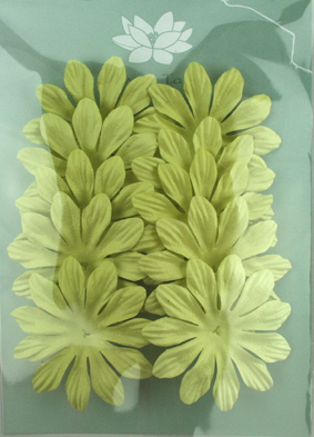 6cm Petals, Pale Green Pack of 10