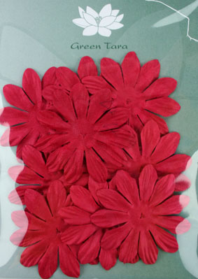 6cm Petals, Red. Pack of 10
