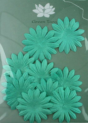 6cm Petals, Turquoise Pack of 10