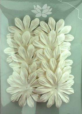 6cm Petals, White pack of 10