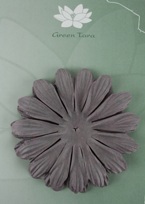 10cm petals. Aubergine Pack of 5.