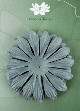 10cm petals. Grey Blue Pack of 5.