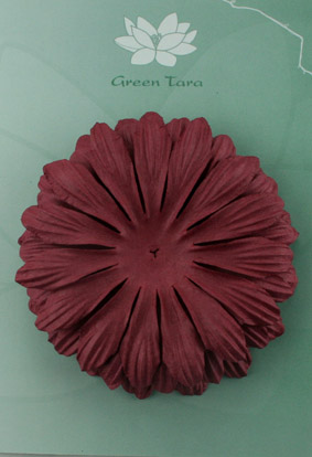 10cm petals. Burgundy Pack of 5.
