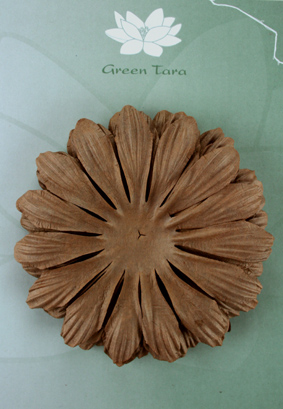 10cm petals. Dark Brown Pack of 5.