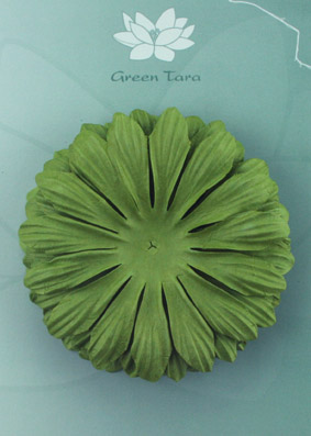 10cm petals. Green Pack of 5.