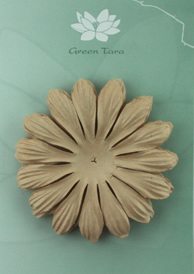 10cm petals. Light Brown Pack of 5.