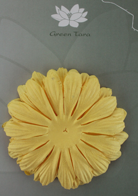10cm petals. Yellow Pack of 5