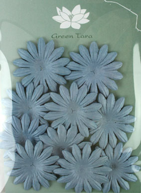 5cm Petals, Grey/Blue Pack of 10