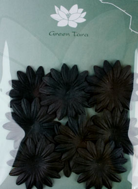 5cm Petals, Black. Pack of 10