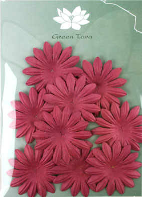 5cm Petals, Burgundy. Pack of 10