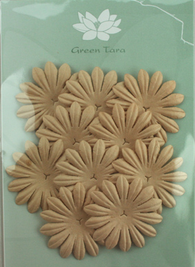 5cm Petals, Light Brown Pack of 10