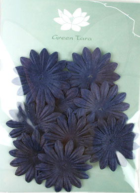 5cm Petals, Midnight Blue Pack of 10