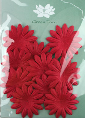 5cm Petals, Red. Pack of 10