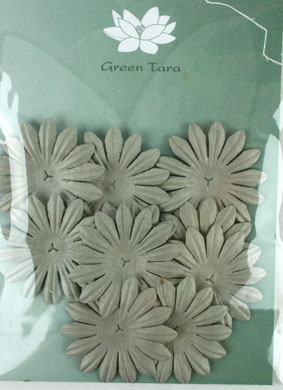 5cm Petals, Silver Grey. Pack of 10