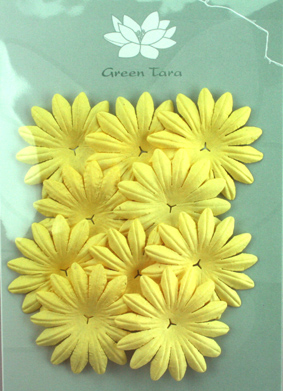 5cm Petals, Soft Yellow Pack of 10