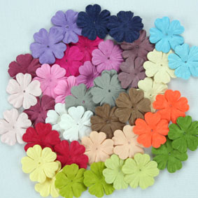 Entire range 2.5cm Petals, 51 Colours