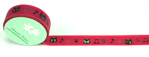 Washi Tape 15mm x 10m roll Cats Music Notes