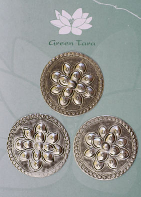Metal Embellishments. Large Round 4 cm