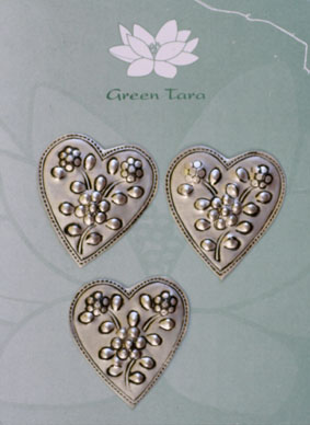 Metal Embellishments Hearts  3.7cm