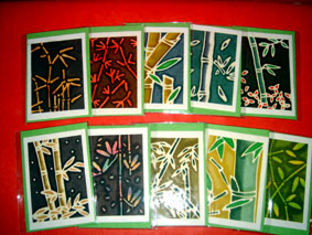 10 Cards and Envelopes Bamboo
