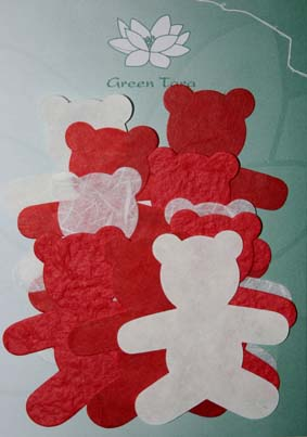 10 Die Cuts Teddy Bears, Red