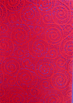 A4 Lace Red Swirls