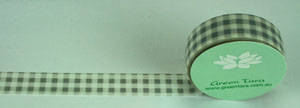 Washi Tape 15mm x 10m roll Gingham Grey